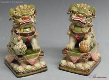 Porcelain/Pottery Primary Antique Chinese Foo Dog Statues & Figurines