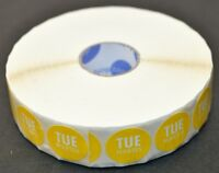 "DayDots ROLL of 500-1/"" x 2/"" USE FIRST Labels Yellow 10609-01-21"