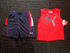 NWT Baby Boy Size 24 Month Puma Navy Blue Shorts Red Sleeveless Shirt