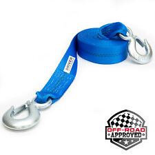 """2"""" x 20' Heavy Duty Recovery Winch Tow Strap Hooks Webbing Rope Chain Towing"""