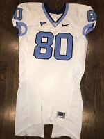 Game Worn Used Nike North Carolina Tar Heels UNC Football Jersey #80 Size 46