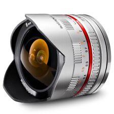 walimex pro 8 mm 1:2,8 Fish-Eye Objektiv für Samsung NX, silber