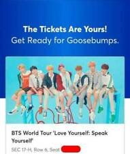 BTS Concert Tickets