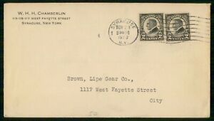 Mayfairstamps US 1923 Syracuse Brown Lipe Gear Harding Block Cover Politician ww