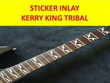 STICKERS INLAY KERRY KING TRIBAL SLAYER SILVER VISIT OUR NEW STORE CUSTOM GUITAR