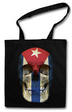 Cuba Skull Flag Hipster BAG-BORSA TESSUTO STOFFA sacchetto sacchetto Iuta-CHE GUEVARA