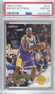 1996-97 NBA Hoops Shaquille O'Neal #215 PSA 10 HOF