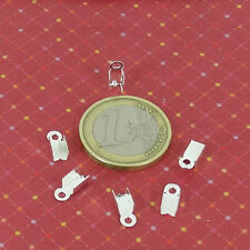 400 Terminales 9x4mm T95A Plateados Entrepiezas End Caps Beads Plated Perline
