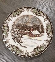 "NEW (4) Johnson Brothers Christmas Friendly Village 10"" Dinner Holiday Plates"