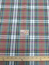 "TARTAN PLAID UNIFORM APPAREL FLANNEL FABRIC Red/Blue 60"" WIDE BY THE YARD 11"