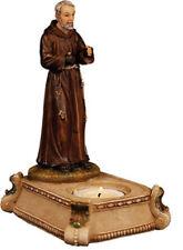 Saint Padre Pio - Tea Light Candle Holder Statue - Holy Religious Gift Tealight