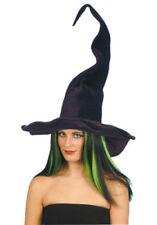 Sombreros, gorros y cascos de terciopelo para disfraces y ropa de época, brujos