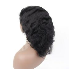 "50% OFF! Hard Full Lace Wigs Short Human Hair 10"" Jet Black #1 Natural Body Wave"