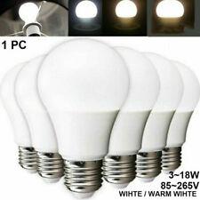 5W 7W 9W 12W Energy Saving LED Globe Auto Light Bulb Lamp E27 White Rechargeable