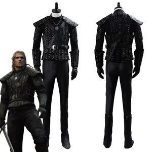 Geralt of Rivia Cosplay Costume Cavill Geralt Armor Outfit Halloween Full Set