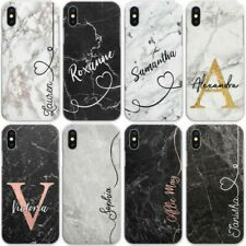 Personalised Marble Phone Case, Hard Cover For Samsung S - Custom Initials/Name