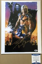 Dolph Lundgren Signed Masters Of The Universe Photo 12x16 Good Journey Beckett