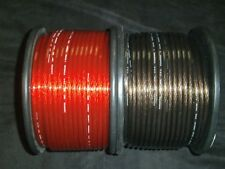 50 FT 8 GAUGE SPEAKER WIRE RED BLACK CABLE AWG STEREO CAR HOME MONSTER SUBS