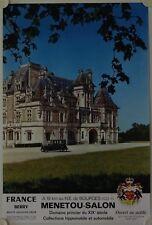 Affiche Tourisme France CHATEAU MENNETOU SALON (Cher) 1973 Route Jacques Coeur