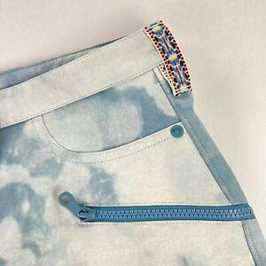 Burton Women's Ivy Under Boots Snowboard Ski Pants Bleached Blue • Large