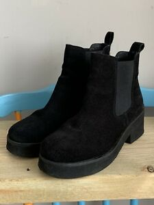 Russell And Bromley Black Suede Ankle Chelsea Boots Size EU 36 UK 3
