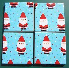 Set of 4 Ceramic Santa Christmas Coasters