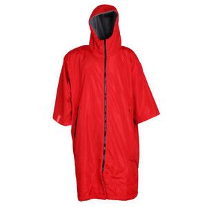 Waterproof Windbreaker Anorak Snow Beach Gym Changing Robe Poncho Jacket Red