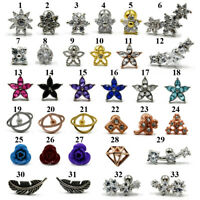 CZ Flower Ear Cartilage Piercing Earring Bars Tragus Helix Piercing Body Jewelry