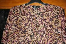 MATRICE LADIES PRETTY GOLD/BLACK/CERISE PINKY SHIRT SIZE 12