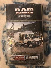 2014 Dodge Ram Promaster 1500 2500 3500 Cargo Van Owner Manual User Guide New