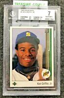 1989 UPPER DECK - KEN GRIFFEY Jr. - BGS 7 - Centering 9.5 Star Rookie RC -  A75