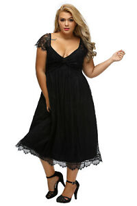 Elegant Lace Embellished Evening Plus Size Dress 14-20