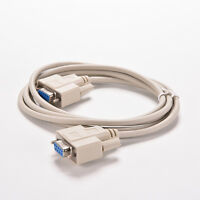 1.5M White RS232 Serial Null Modem Cable DB9 Female to DB9F Best