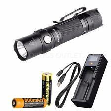 Fenix LD12 2017 320 Lumen Small EDC LED Flashlight w/ AA, 14500 & USB Charger