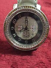 Mens Techno Master Yellow / White Color Diamond Watch 2 Ct