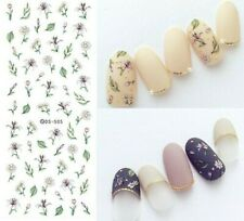 Nail Art Water Decals Transfers Stickers Flowers Floral Fern Leaf Daisy (DS505)