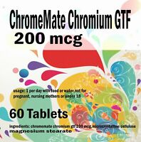 ChromeMate Chromium GTF 200 mcg - 60 Tablets
