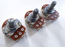 3 POTENTIOMETRES A250k SPLIT SHAFT (logarithmique) pour toutes guitares