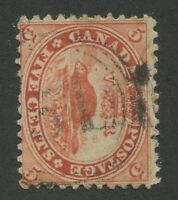 "CANADA #15 USED 4-RING NUMERAL CANCEL ""51"" (.02)"