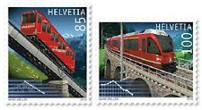 Trains mnh 2 stamps 2010 Switzerland #1385-6 Niesen Funicular, Bernina Railway