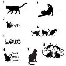 Cat Vinyl Decal Cute Lovely Feline Housecat Home Decal Tabby Domestic Shorthair