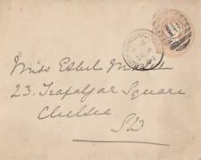 LONDON :1894  SOUTH KENSINGTON 10  numeral cancel on  p.s. envelope