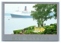 Postcard Queen Elizabeth II at Anchor, Bar Harbor, Maine ME  K5
