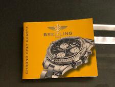 BREITLING Chrono Colt Quarz Bedienungsanleitung Booklet Instructions Manual  91
