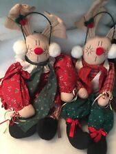 Hanging Reindeer Door Greeters He and She Christmas Time Plush
