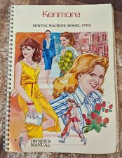 Kenmore Sewing Machine Owners Manual Model 17922 Instructions Part 59951 Vintage