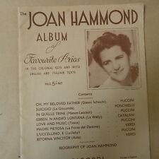 songbook THE JOAN HAMMOND ALBUM of favourite arias, english/italian text