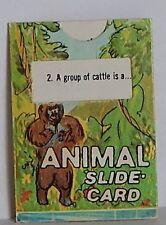 VINTAGE 1970 CRACKER JACK ANIMAL SLIDE CARD PRIZE PREMIUM