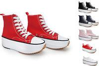 Footwear Sale Women Sneaker Low High-top Trainers Wedge Flat Lace-up Plain Size