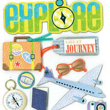 K&COMPANY DIMENSIONAL 3D SCRAPBOOK STICKERS GREAT JOURNEY TRAVEL VACATION
